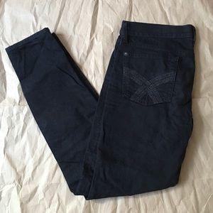 7 FOR ALL MANKIND Black Gem Super Skinny Jeans 30